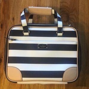 Kate Spade Bon Voyage Luggage Topper Navy & White